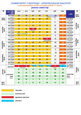 Plan realizacije nastave 2016/17