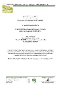 Prezentaciju Nacrta Regionalne razvojne strategije za Braničevo
