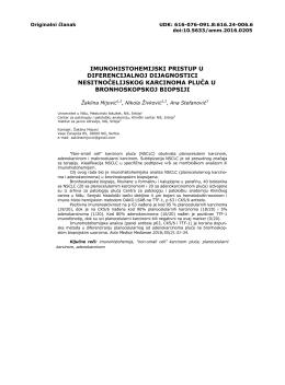 imunohistohemijski pristup u diferencijalnoj dijagnostici