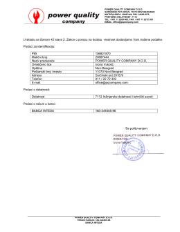Identifikacija firme - power quality company