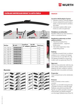 flatblade univerzalni brisač za auto-stakla