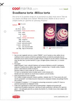 Svadbena torta -Milica torta