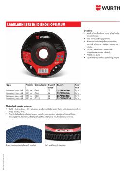 lamelarni brusni diskovi optimum