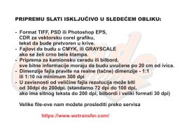 Uputstvo za slanje fajlova
