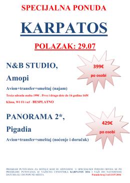 specijalna ponuda karpatos 29.07.