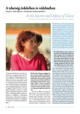 Interjú dr. Vadai Ágnessel, a Demokratikus Koalíció alelnökével