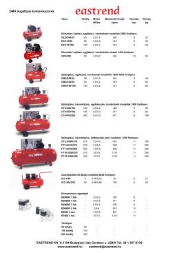 Legkompresszorok-villanymotorral Size