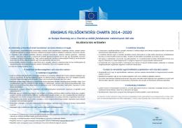 ERASMUS FELSŐOKTATÁSI CHARTA 2014–2020