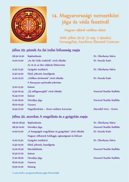 Részletes program - Dr. Oberkamp Mária
