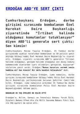 erdoğan abd`ye sert çıktı