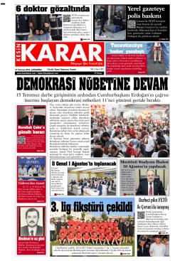 27 temmuz 2016_Kesin Karar Gazetesi