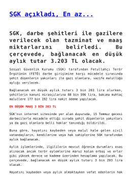 SGK açıkladı, En az