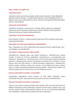 AnkaraKart Uygulamasında Sıkça Sorulan Sorular