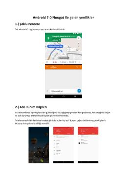 Android 7.0 Nougat ile gelen yenilikler
