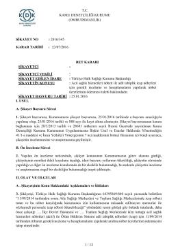 Dosya N o: 2016/345 - Nöbet Ücretlerinin Ödenmesi Talebi