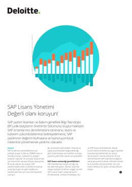 SAP Lisans Yönetimi Değerli olanı koruyun!