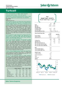 Turkcell - Şeker Yatırım