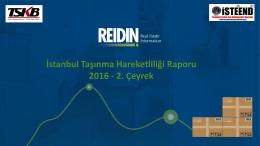 İstanbul Taşınma Hareketliliği Raporu 2016 - 2. Çeyrek
