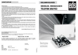 SD630 Serisi telefon arayıcı
