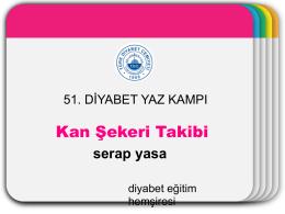 Kan Şekeri Takibi - Türk Diabet Cemiyeti