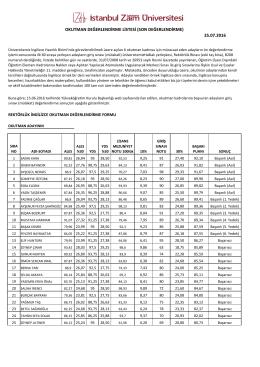 Okutman sınavı sonuçları 2016