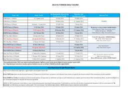 2016 Sınav Takvimi