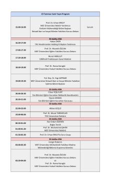 23 Temmuz Program - MEF Üniversitesi