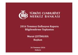 Enflasyon Raporu 2016-III