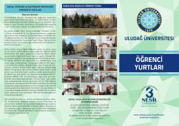 Yurtlar Broşür - Uludağ Üniversitesi