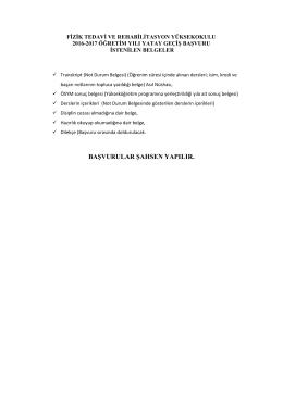 yatay geçiş için istenilen belgeler