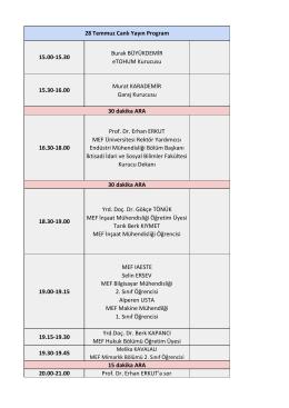 28 Temmuz Plan - MEF Üniversitesi