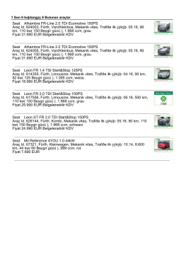 Seat Alhambra FR-Line 2.0 TDI Ecomotive 150PS Araç Id