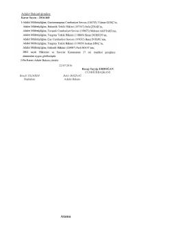Adalet Bakanlığına Ait Atama Kararı