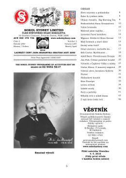 věstník - Sokol Sydney