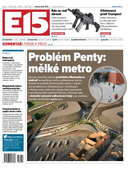 Problém Penty: mělké metro
