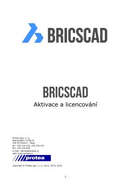 licencování BricsCADu