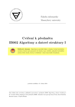 IB002 - sbirka