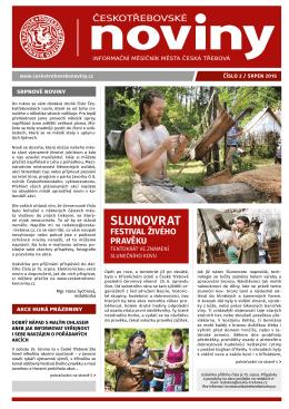 srpen - Českotřebovské noviny