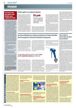 Balení ložisek SKF v igelitovém obalu (Technický týdeník