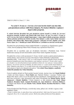 7. tisková zpráva 2016 - Divadelní léto pod plzeňským nebem