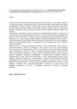 Roman BARON, Roman MADECKI, Jan MALICKI et. al.: Czeskie