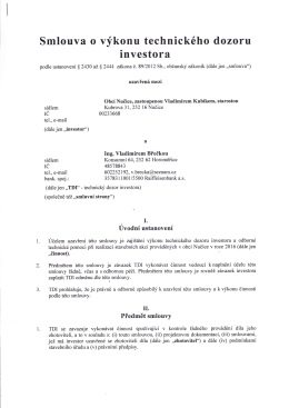 Smlouva o výkonu TDI
