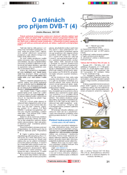 67. O anténách pro příjem DVB