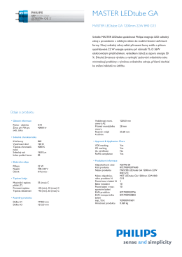 Product Leaflet: MASTER LEDtube GA - Svitidla-osvetleni