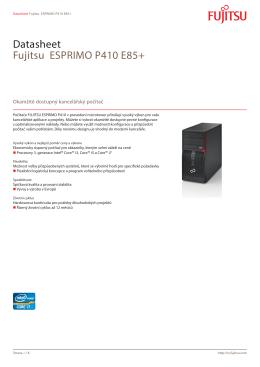 Datasheet Fujitsu ESPRIMO P410 E85+