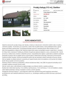 Prodej chalupy 315 m2, Slavíkov