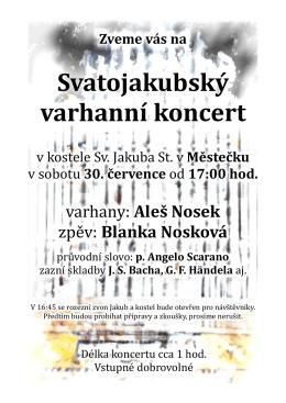 Svatojakubský varhanní koncert