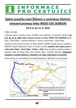 úplná uzavírka silnice mezi Žďárem a Levínskou Olešnicí