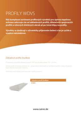 Datový list výrobku