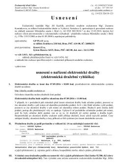 Usnesení - Úřední deska